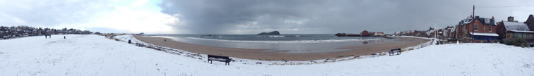Panorama of North Berwick West Bay by Ian Goodall